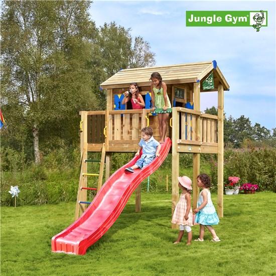 Jungle Gym Legehustårn XL komplet inkl. rutschebane