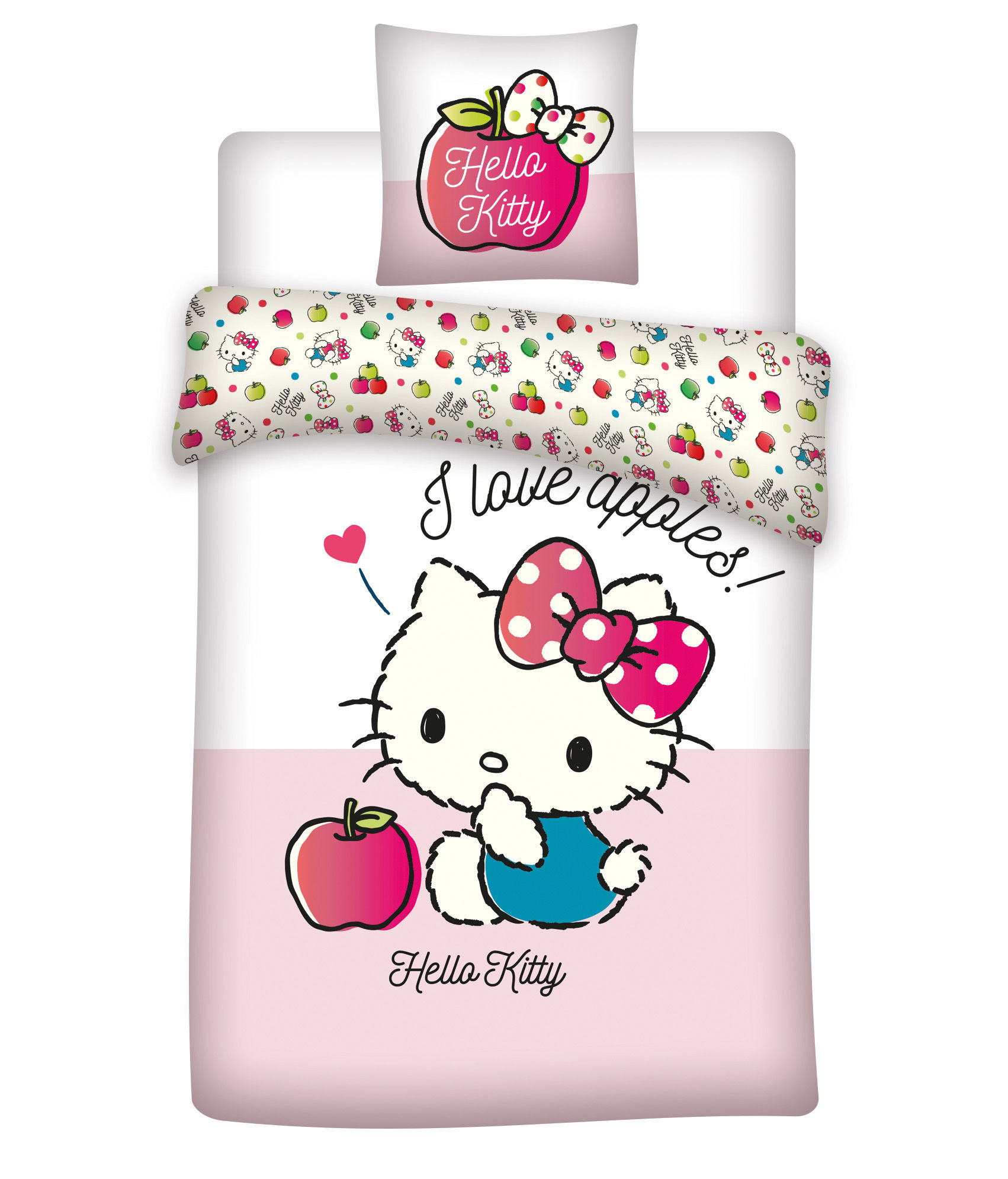 Hello Kitty sengetøj Junior - 100x140, 40x45 cm