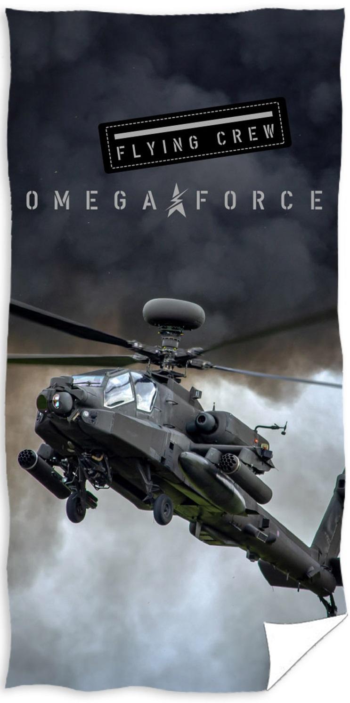 """Helikopter """"Omege Force"""" Badehåndklæde – 100 procent bomuld"""