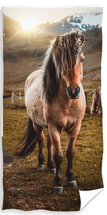 Hest Badehåndklæde – 100 procent bomuld