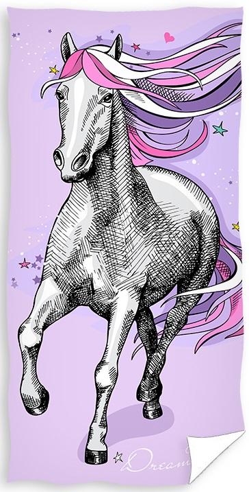 Hest Pink Badehåndklæde – 100 procent bomuld