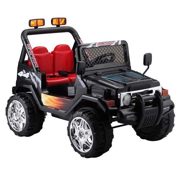EL Børne Adventure Jeep 12V m/2.4G + 10AH + Gummihjul thumbnail
