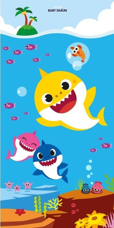 Baby Shark Badehåndklæde – 70×140 cm