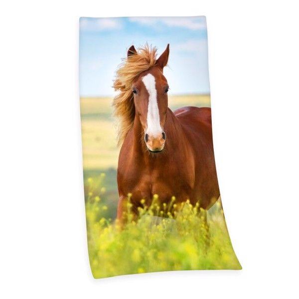 Heste Badehåndklæde i 100 Procent Bomuld