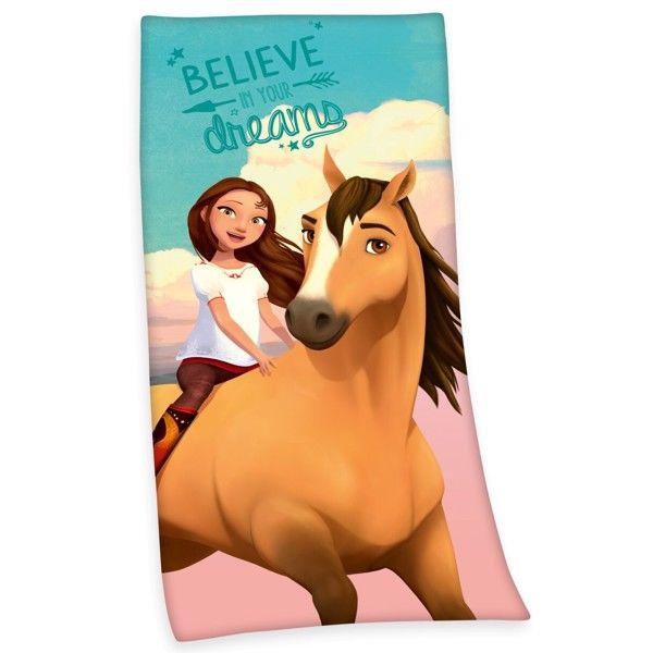 Heste Spirit Badehåndklæde i 100 Procent Bomuld