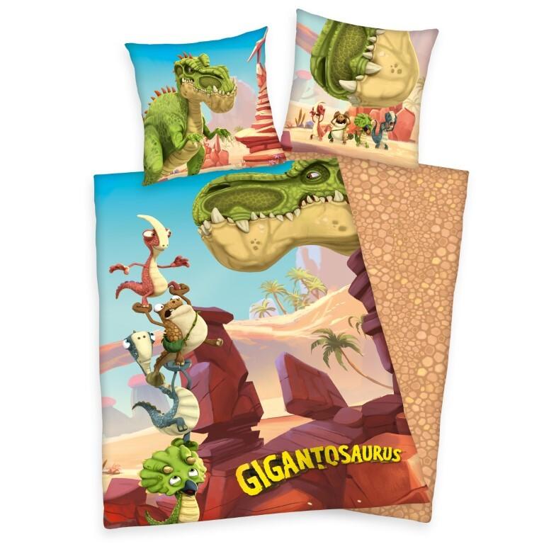 Gigantosaurus Dinosaur Sengetøj - 100 Procent Bomuld