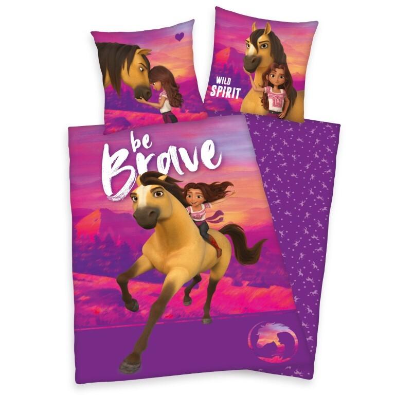 Heste Spirit ''Be Brave'' Sengetøj - 100 Procent Bomuld