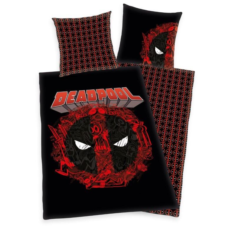 Marvel Deadpool Sengetøj - 100 procent bomuld