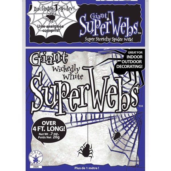 Halloween spindelvæv, Hvid Gigant pakke (138g)