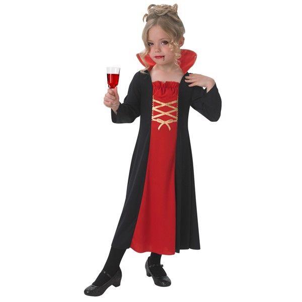 Vampyr Kappe udklædningstøj til Børn (Str. 104/S)