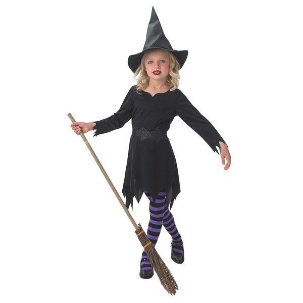 Sort Heks udklædningstøj til børn(Str. 104/S)