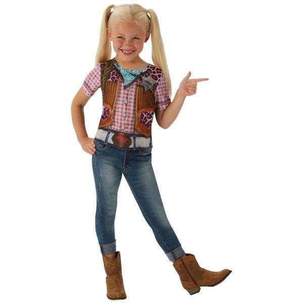 Cowgirl T-Shirt udklædningstøj til børn (Str. 104/S)