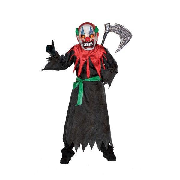 """Klovn """"Crazy"""" Halloweenstøj til børn(Str. 137/M)"""