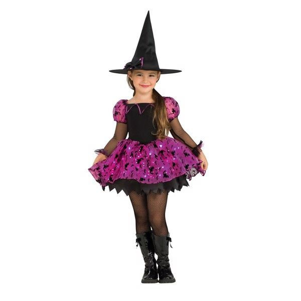 Moonlight Magisk Heks m/lys udklædningstøj til børn(Str. 137/M)