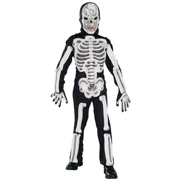Skelet Halloweenstøj til børn(Str. 137/M)