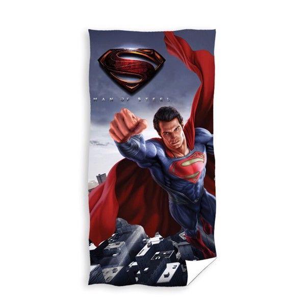 Superman Man of Steel Badehåndklæde i 100 Procent Bomuld