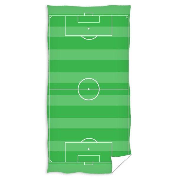 Fodboldbane Badehåndklæde i 100 Procent Bomuld