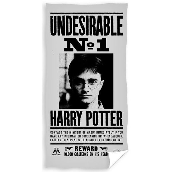Harry Potter Badehåndklæde i 100 Procent Bomuld