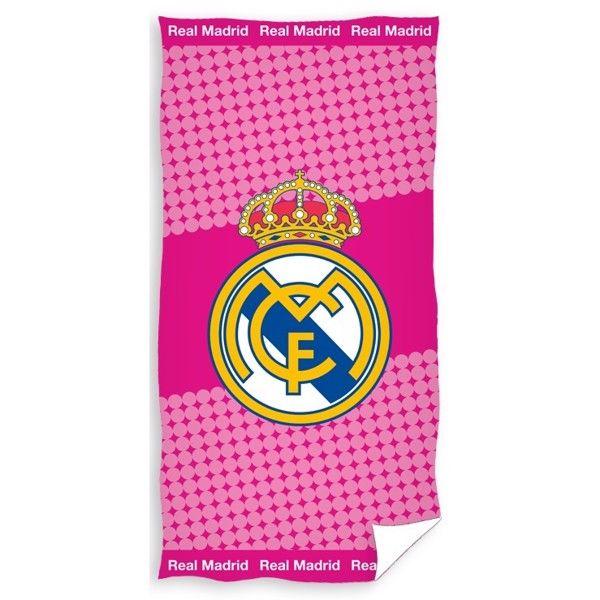 Real Madrid Pink Badehåndklæde i 100 Procent Bomuld