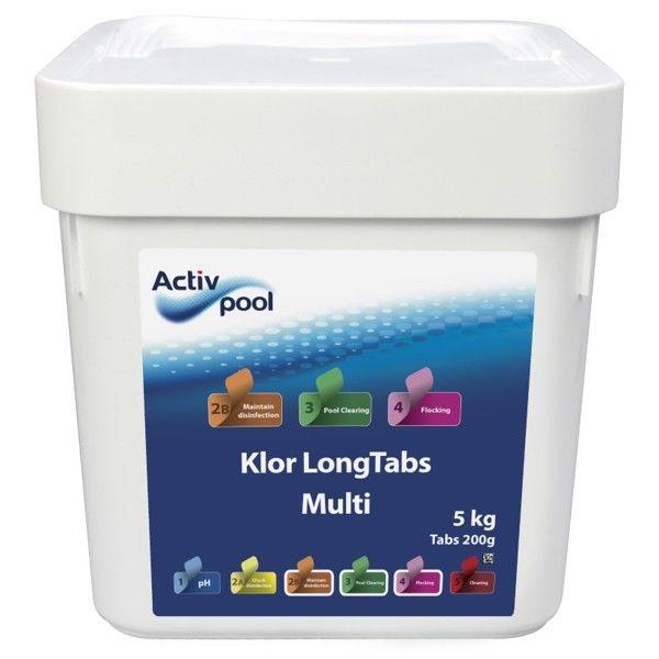 ActivPool Multi Klor 4-1 LongTabs 200g 5kg thumbnail