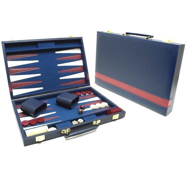 46 cm Backgammon Board, Blå thumbnail