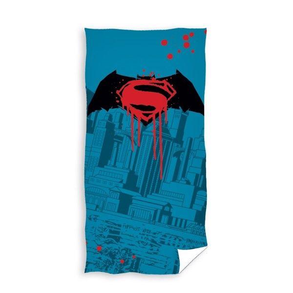 Batman og Superman Badehåndklæde i 100 Procent Bomuld