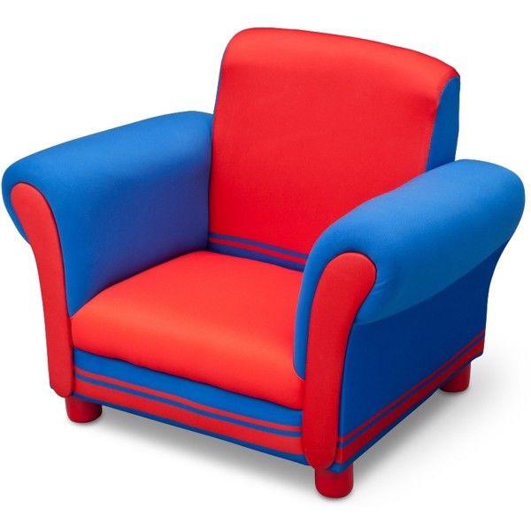 Delta Polstret stol Blå/Rød