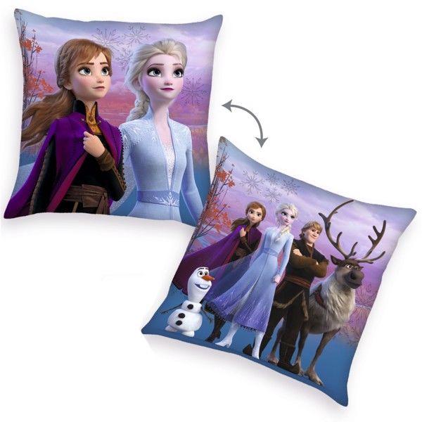 Billede af Disney Frost 2 pude med Anna, Elsa, Olof og Sven