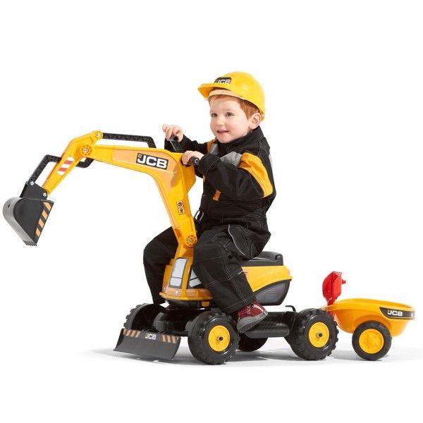 JCB Gravemaskine Excavator m/anhænger og hjelm