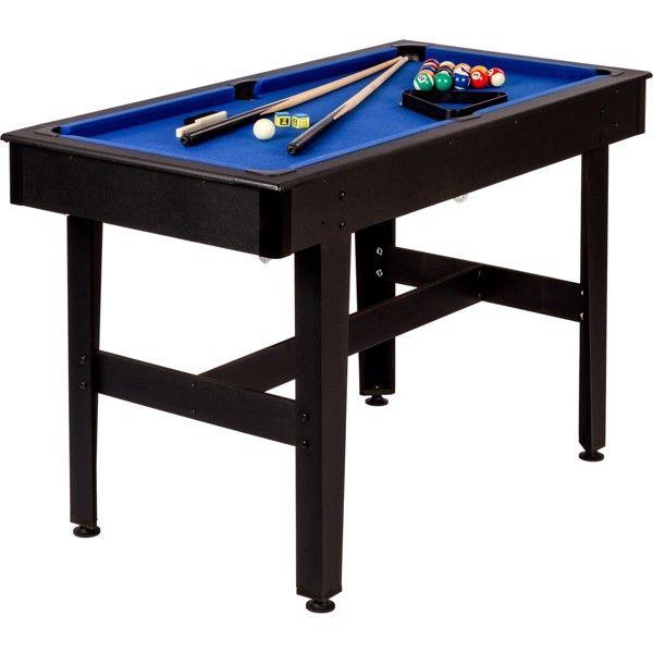 4 fods poolbord med blå filt thumbnail