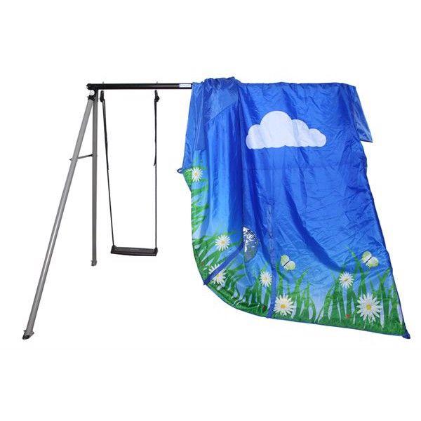 Blå telt - passer til classic gyngestativ fra Hörby Bruk