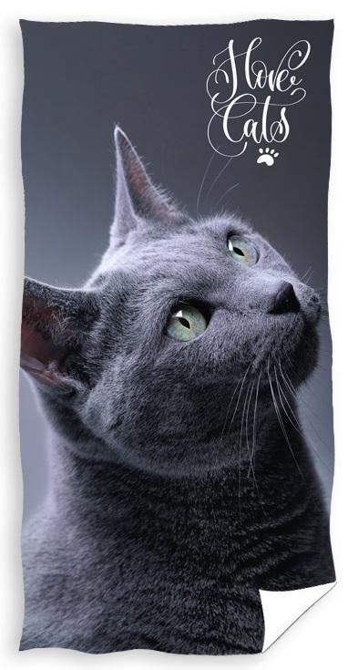 """Katte """"Love Cats"""" Badehåndklæde – 100 procent bomuld"""